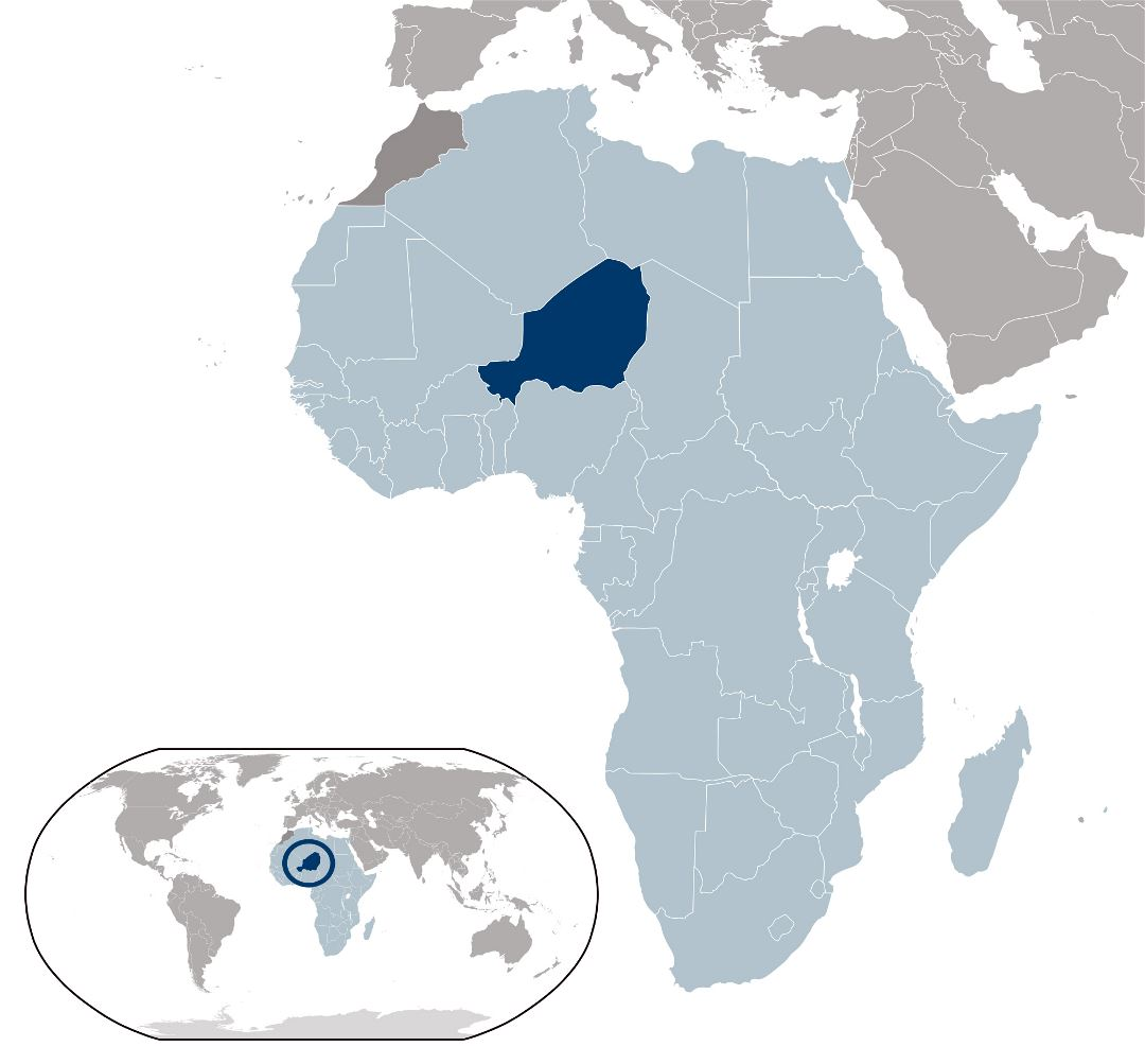 Large location map of Niger