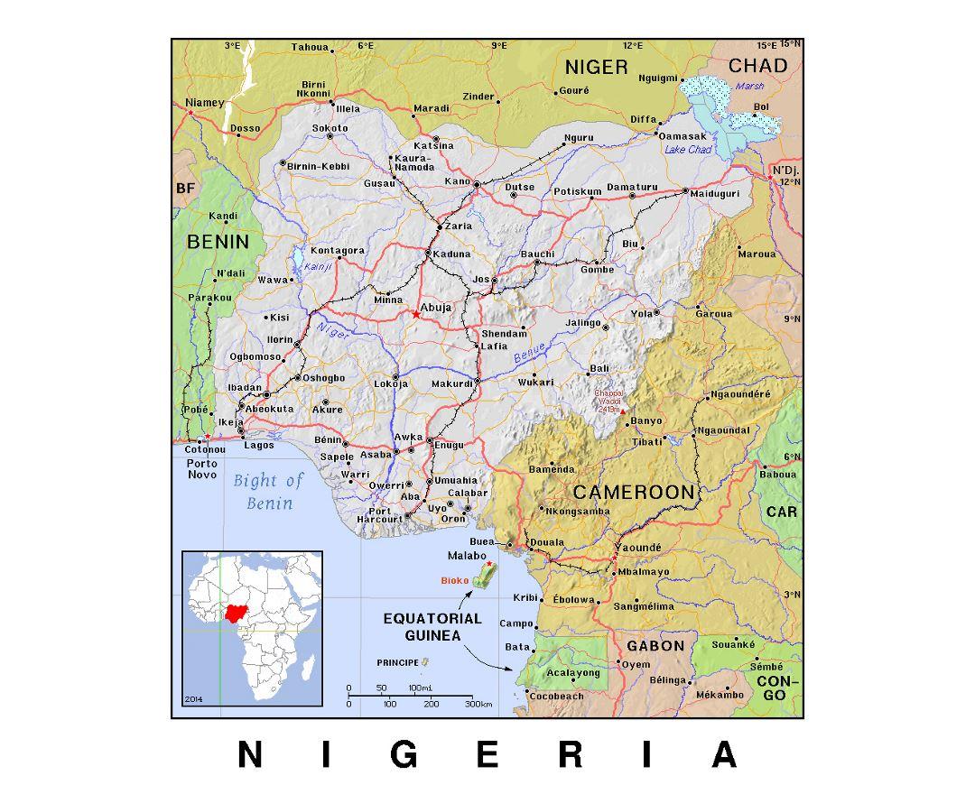 Map Of Africa Nigeria.Maps Of Nigeria Collection Of Maps Of Nigeria Africa Mapsland