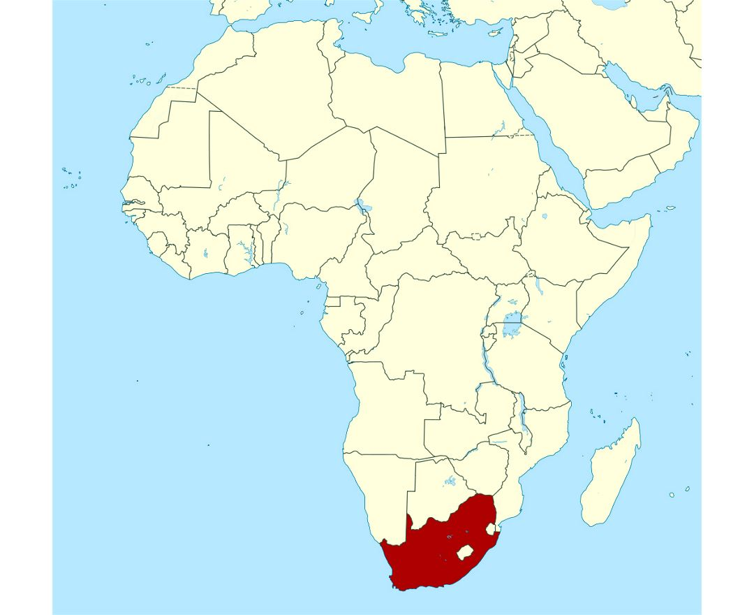 Maps Of South Africa Detailed Map Of Republic Of South Africa In - South africa map