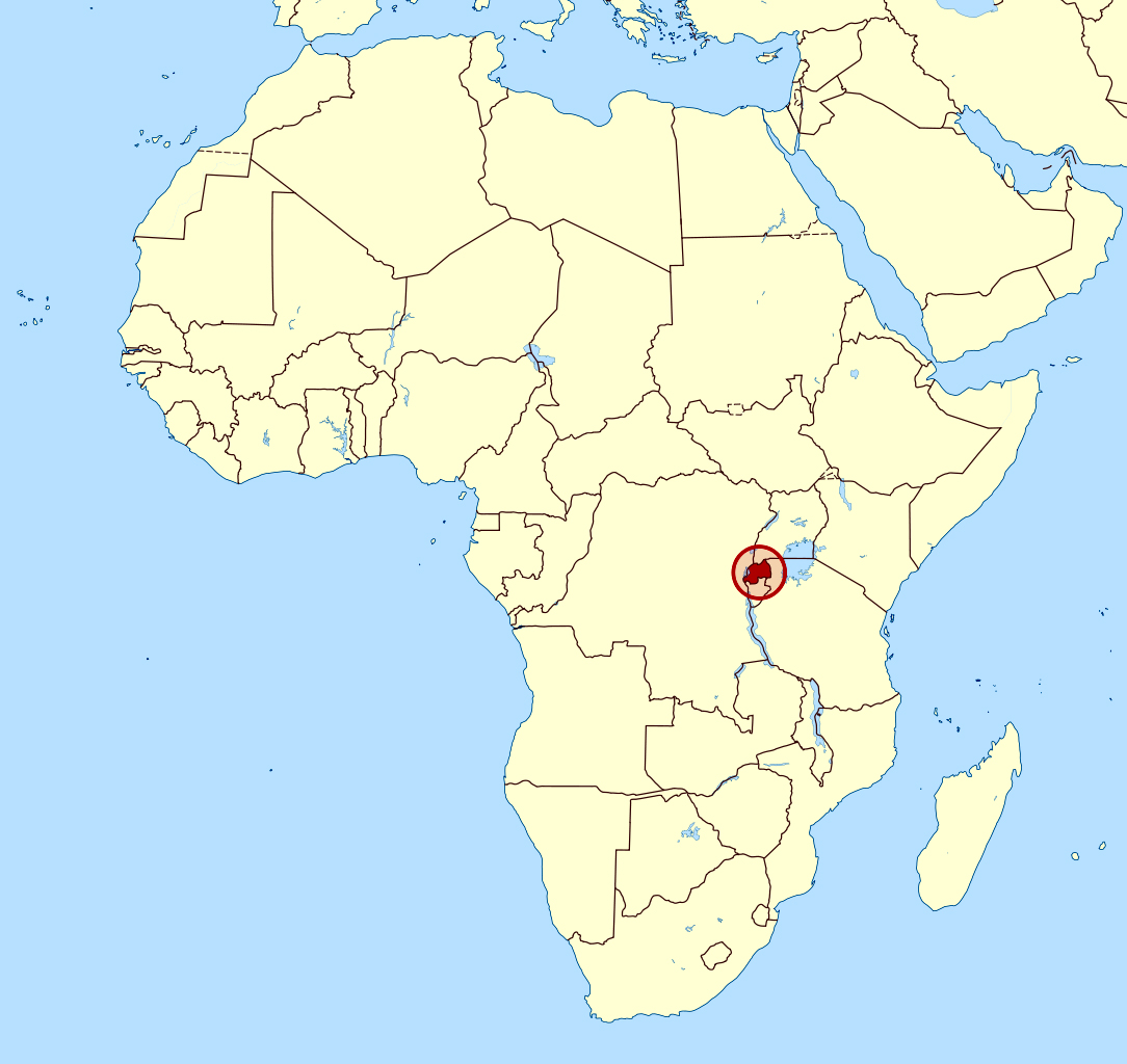 rwanda in africa map Detailed Location Map Of Rwanda In Africa Rwanda Africa