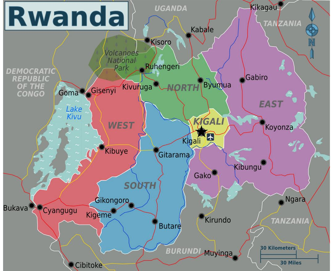 Maps Of Rwanda Collection Of Maps Of Rwanda Africa Mapsland Maps Of The World