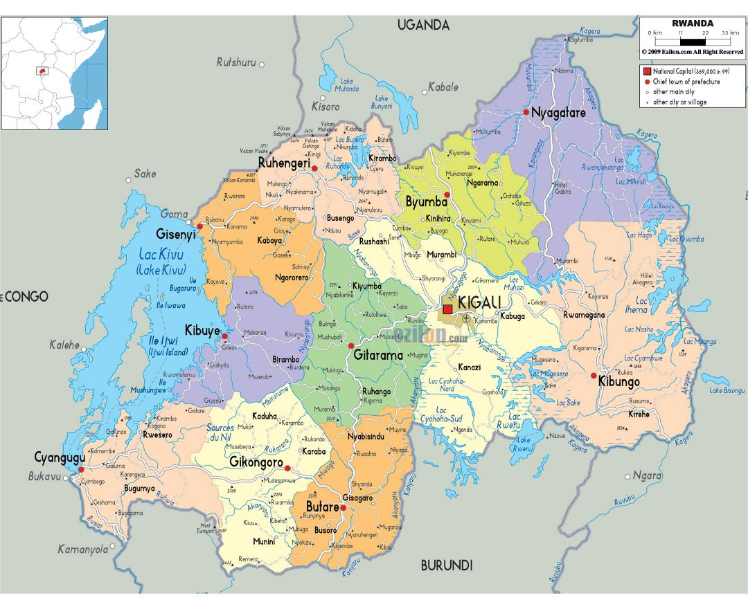 Image of: Maps Of Rwanda Collection Of Maps Of Rwanda Africa Mapsland Maps Of The World