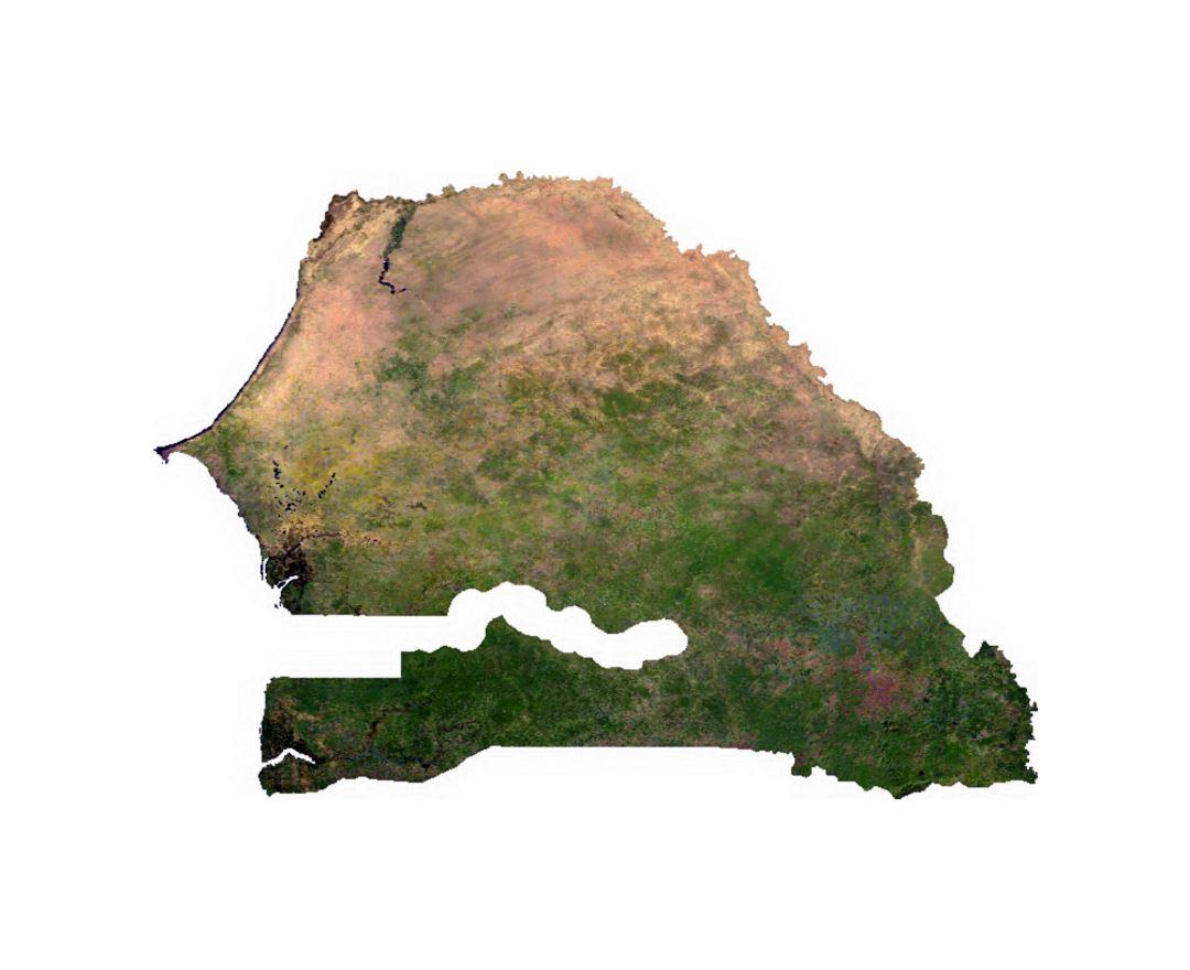 Satellite map of Senegal Maps of Senegal