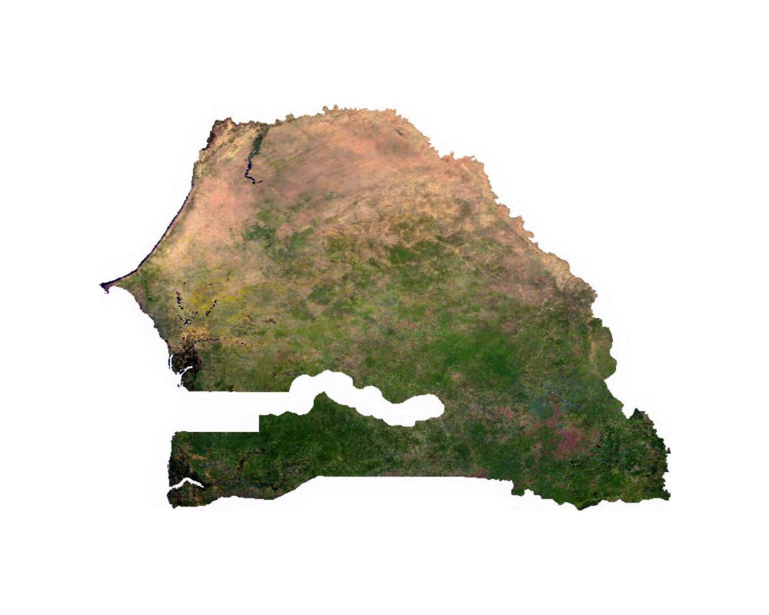 Satellite map of Senegal
