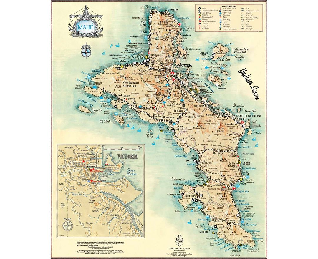 Maps Of Seychelles Detailed Map Of Seychelles In English - Seychelles map