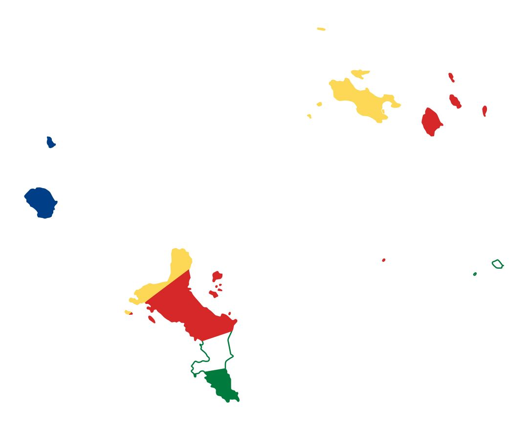 Large flag map of Seychelles