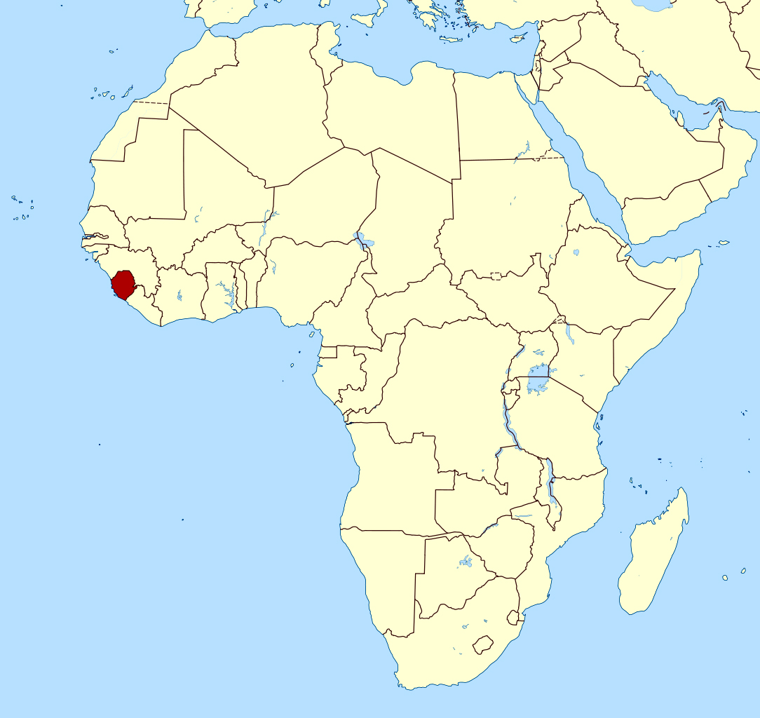 Map Of Africa Sierra Leone Detailed location map of Sierra Leone in Africa | Sierra Leone