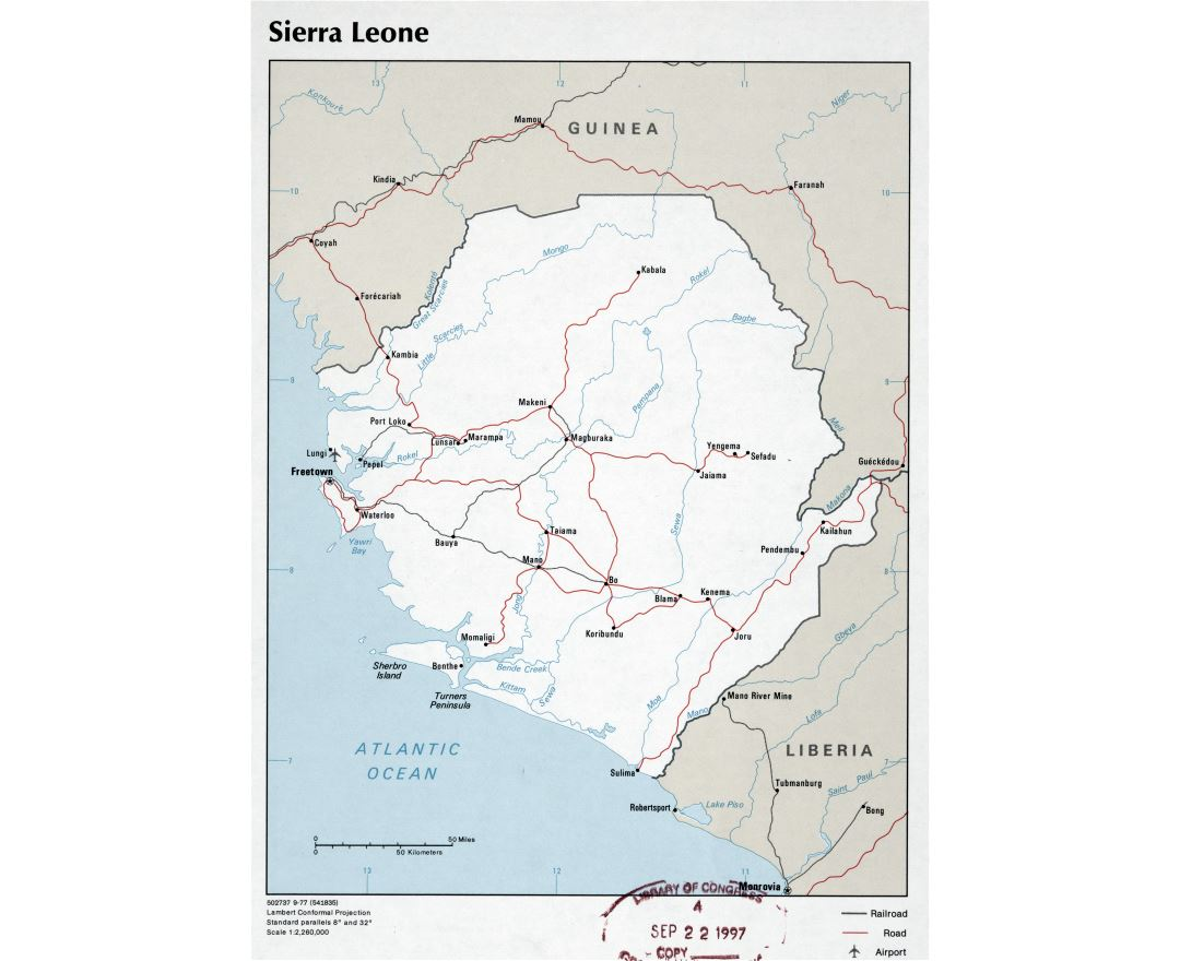 Maps Of Sierra Leone Collection Of Maps Of Sierra Leone Africa Mapsland Maps Of The World