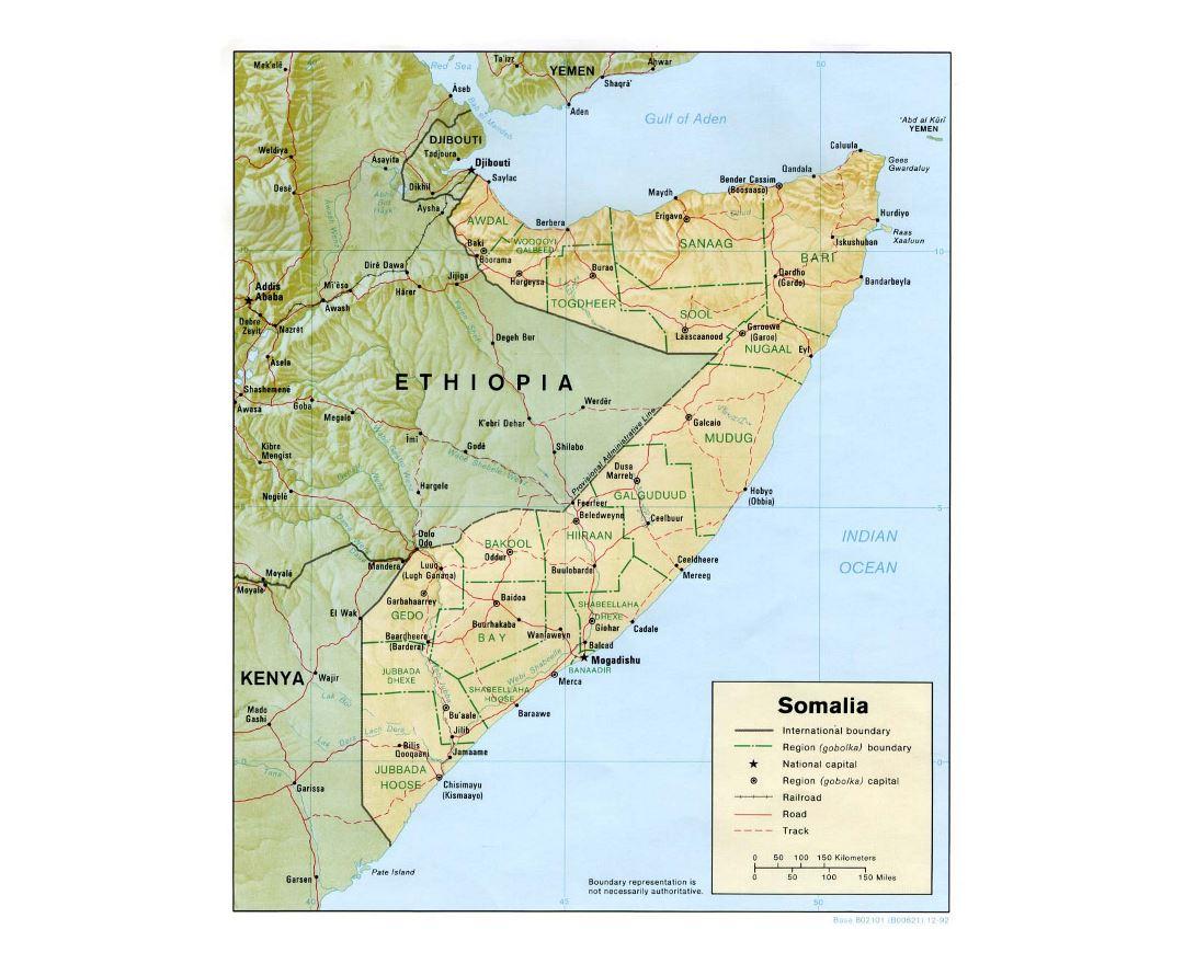 Maps of Somalia | Collection of maps of Somalia | Africa | Mapsland Political Map Of Somalia on