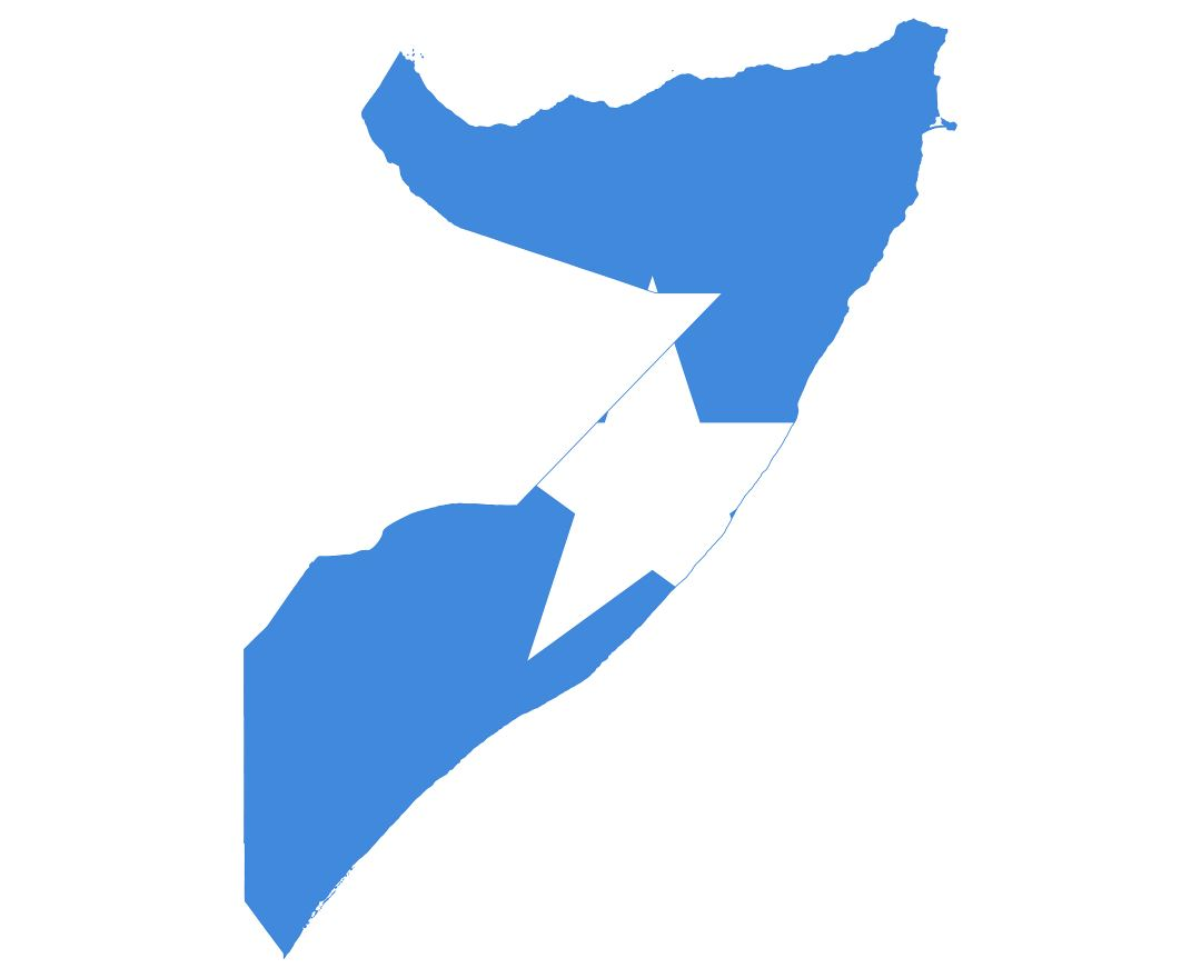 Large flag map of Somalia