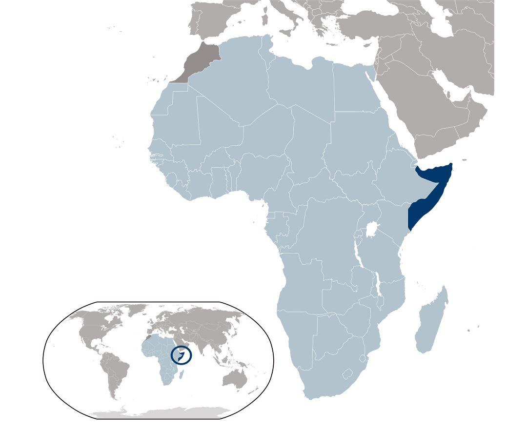 Maps of Somalia Detailed map of Somalia in English Tourist map