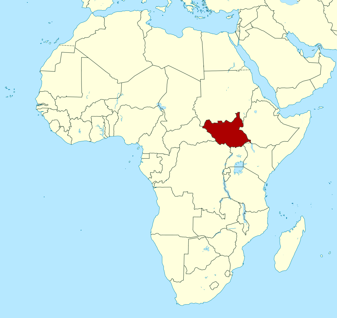 Detailed location map of South Sudan in Africa South Sudan
