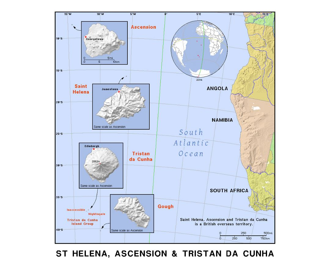 map of st helena island
