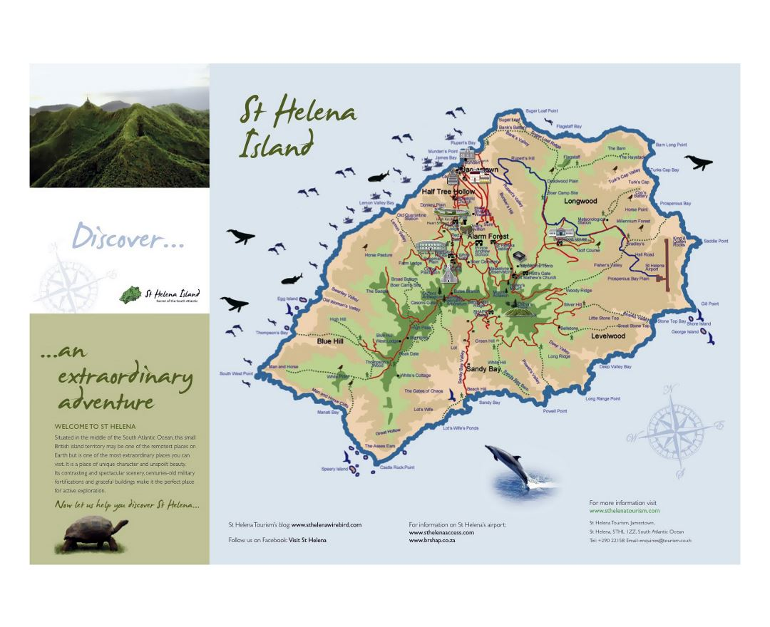 Detailed travel map of St. Helena