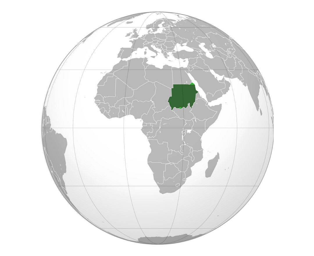 Detailed location map of Sudan in Africa