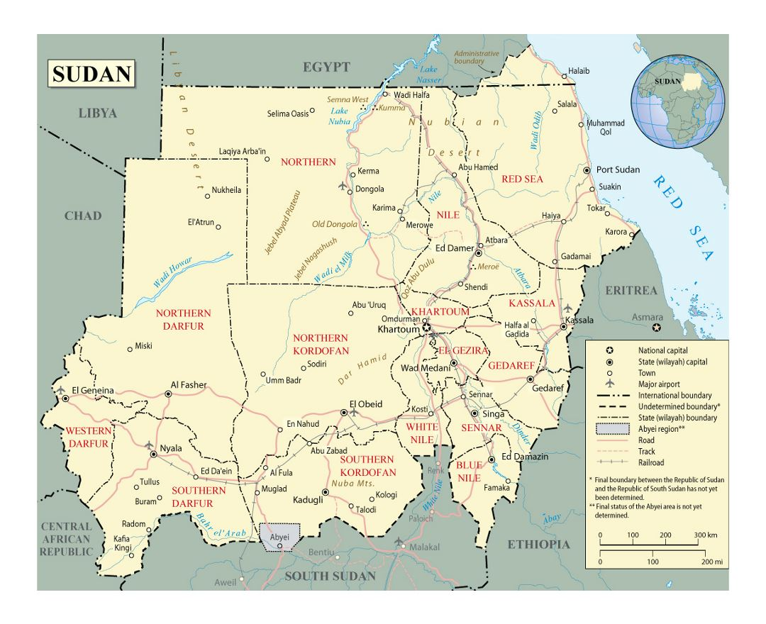 Political Map Of Sudan.Maps Of Sudan Collection Of Maps Of Sudan Africa Mapsland
