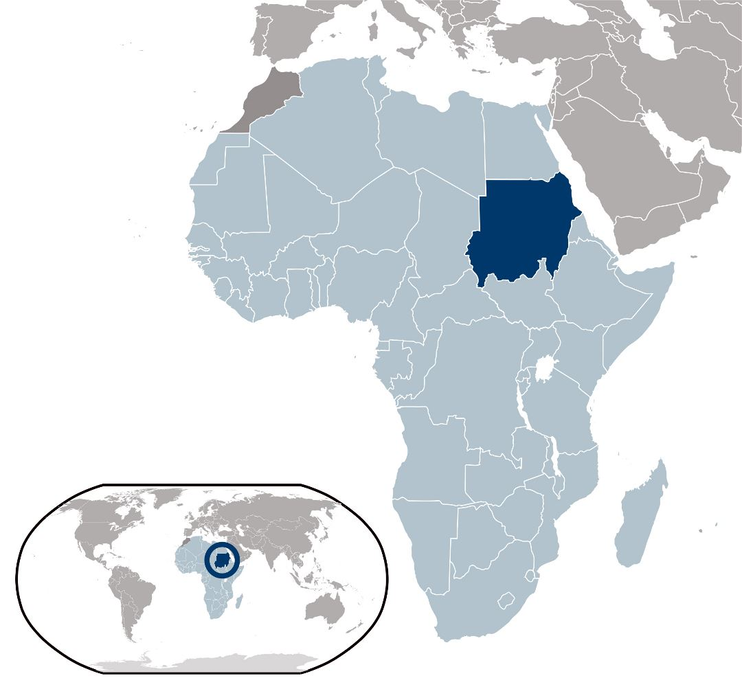 Large location map of Sudan