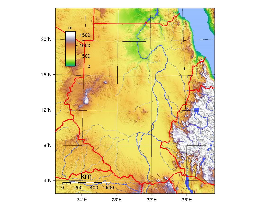 Maps of sudan detailed map of sudan in english tourist map large topographical map of sudan freerunsca Image collections