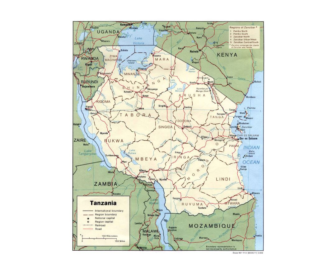 Maps of Tanzania Detailed map of Tanzania in English Tourist map