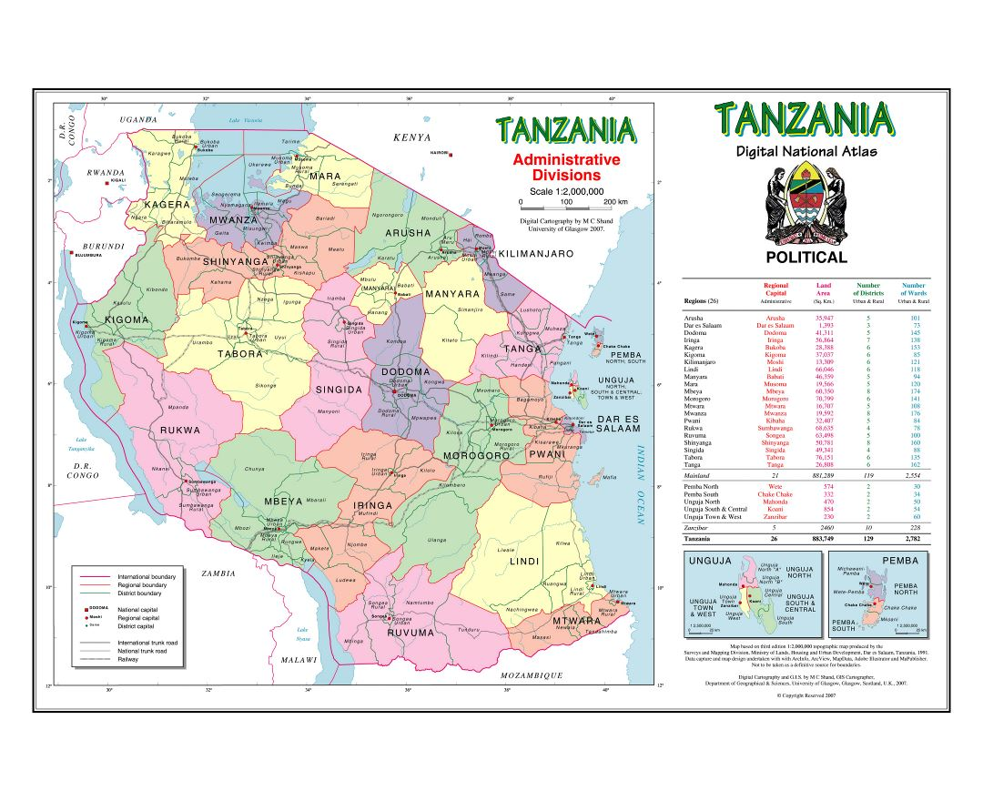 Picture of: Maps Of Tanzania Collection Of Maps Of Tanzania Africa Mapsland Maps Of The World