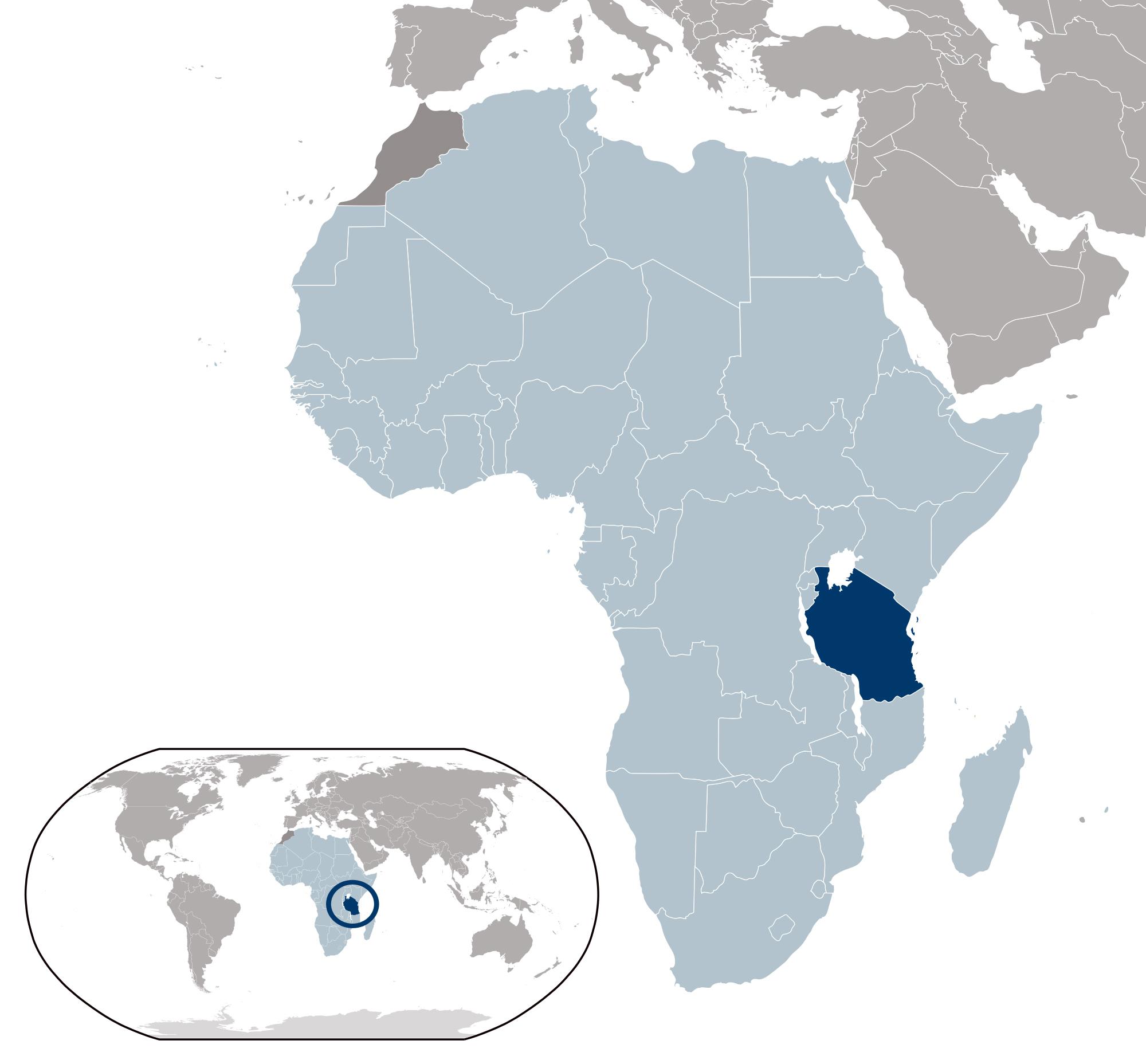 Large Location Map Of Tanzania Tanzania Africa Mapsland - Where is tanzania located