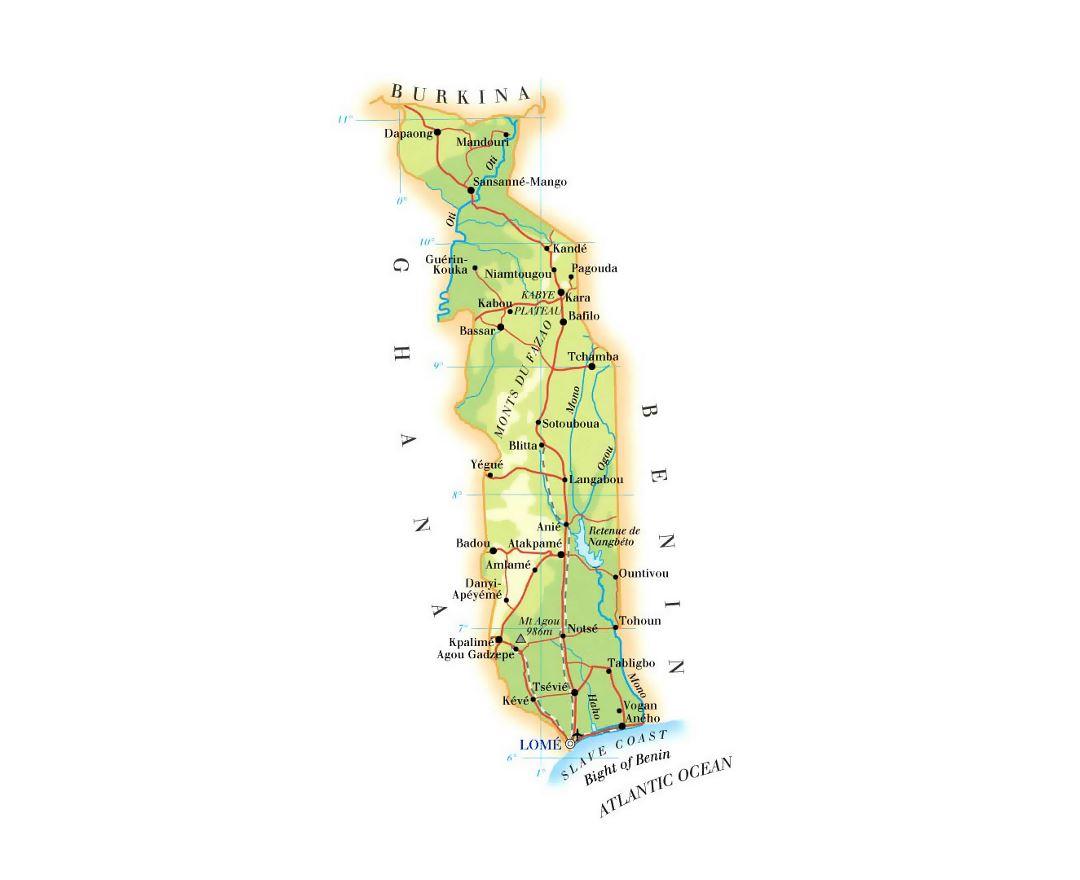 Maps of Togo | Collection of maps of Togo | Africa | Mapsland | Maps Togo Map on burkina faso map, mali map, madagascar map, switzerland map, comoros map, tunisia map, rwanda map, zimbabwe map, guadeloupe map, uganda map, usa map, morocco map, senegal map, algeria map, chad map, sierra leone map, nigeria map, tonga map, sudan map, ethiopia map, mozambique map, benin map, ghana map, angola map, egypt map, bahrain map, kenya map, libya map, malawi map, sweden map, congo map, niger map, africa map, namibia map,