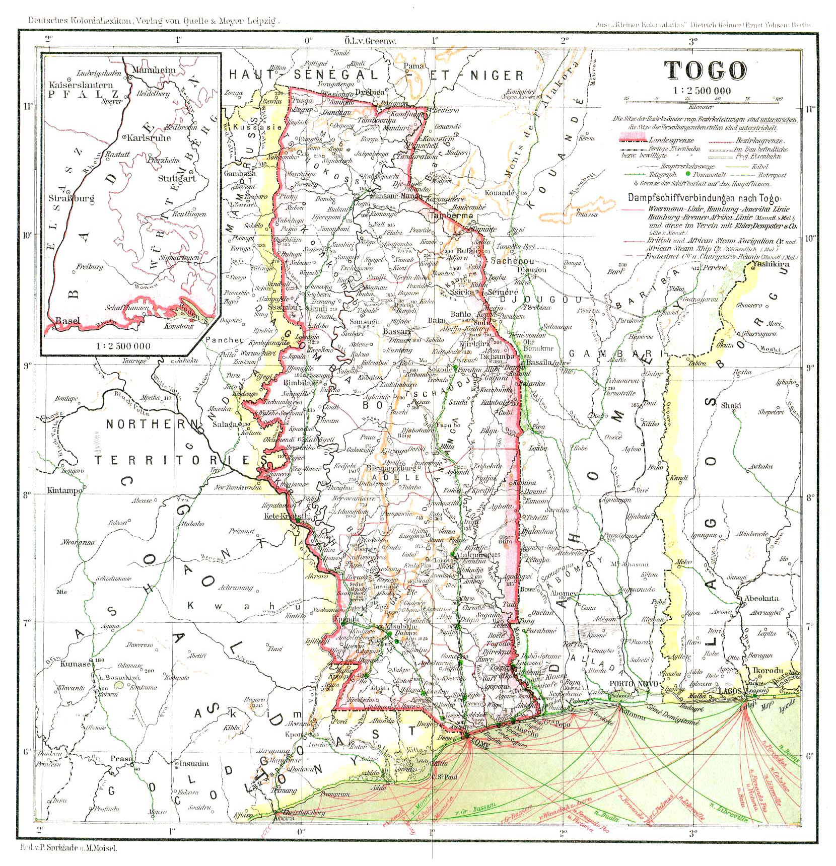 Large Detailed Old Map Of Togo Togo Africa Mapsland Maps - Togo map