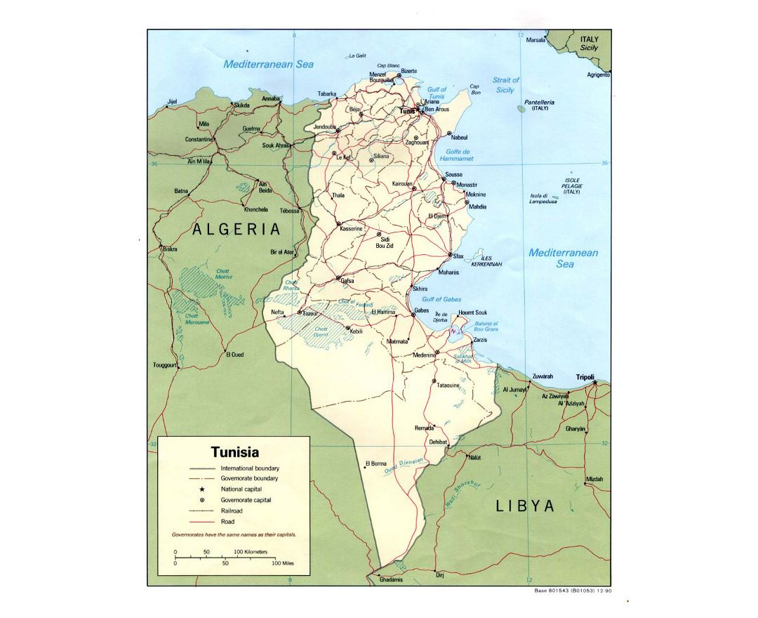 Maps of Tunisia | Collection of maps of Tunisia | Africa | Mapsland ...