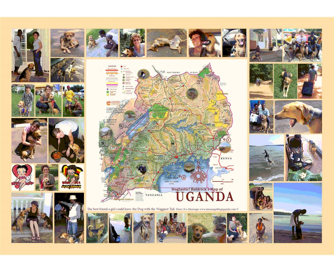 Large Baldricks map of Uganda