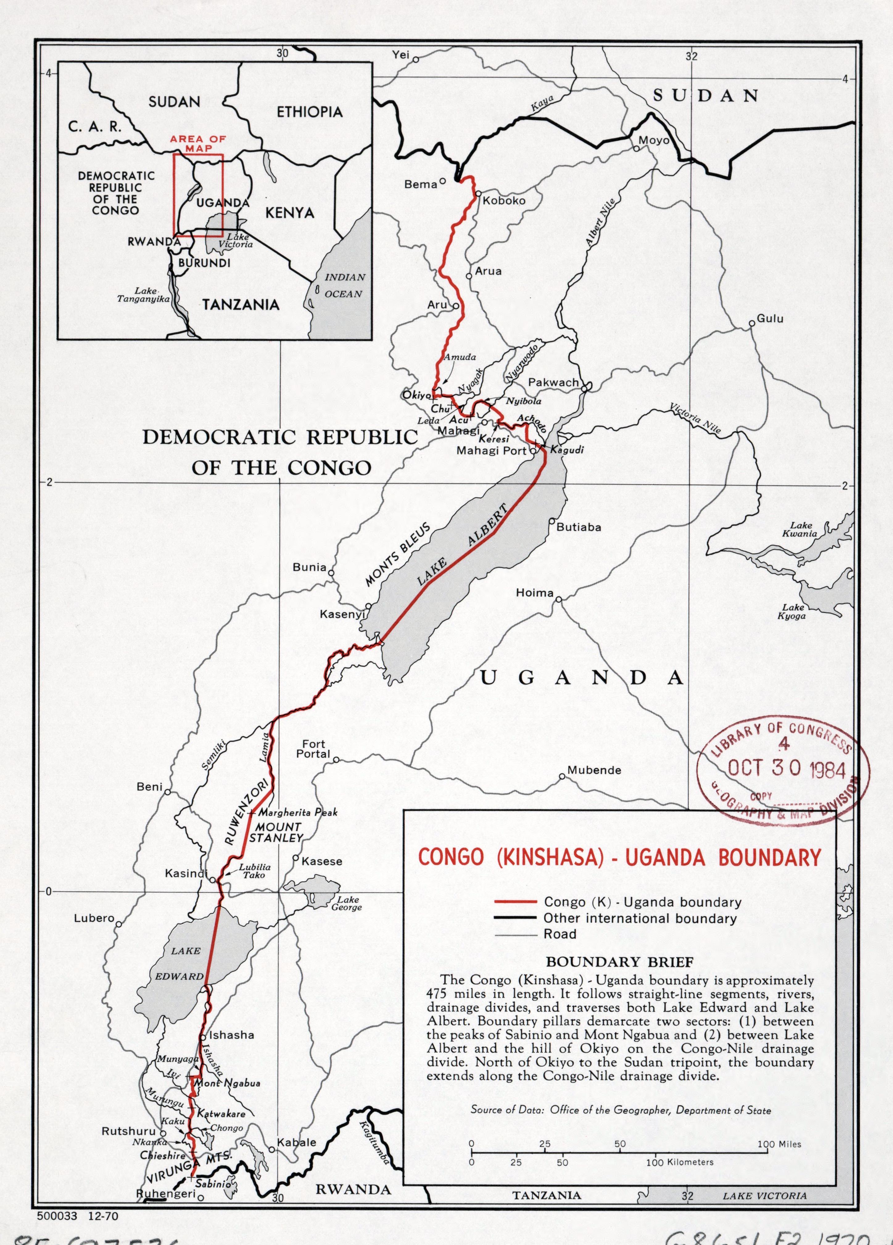 Large detailed Congo (Kinshasa) - Uganda boundary map - 1970 ... on dar es salaam on map of africa, mogadishu on map of africa, tripoli on map of africa, maputo on map of africa, jerusalem on map of africa, brazzaville on map of africa, lagos on map of africa, democratic republic of the congo on map of africa, khartoum on map of africa, lusaka on map of africa, kigali on map of africa, addis ababa on map of africa, walvis bay on map of africa, victoria falls on map of africa, africa on map of africa, central african republic on map of africa, white nile on map of africa, alexandria on map of africa, timbuktu on map of africa, nairobi on map of africa,