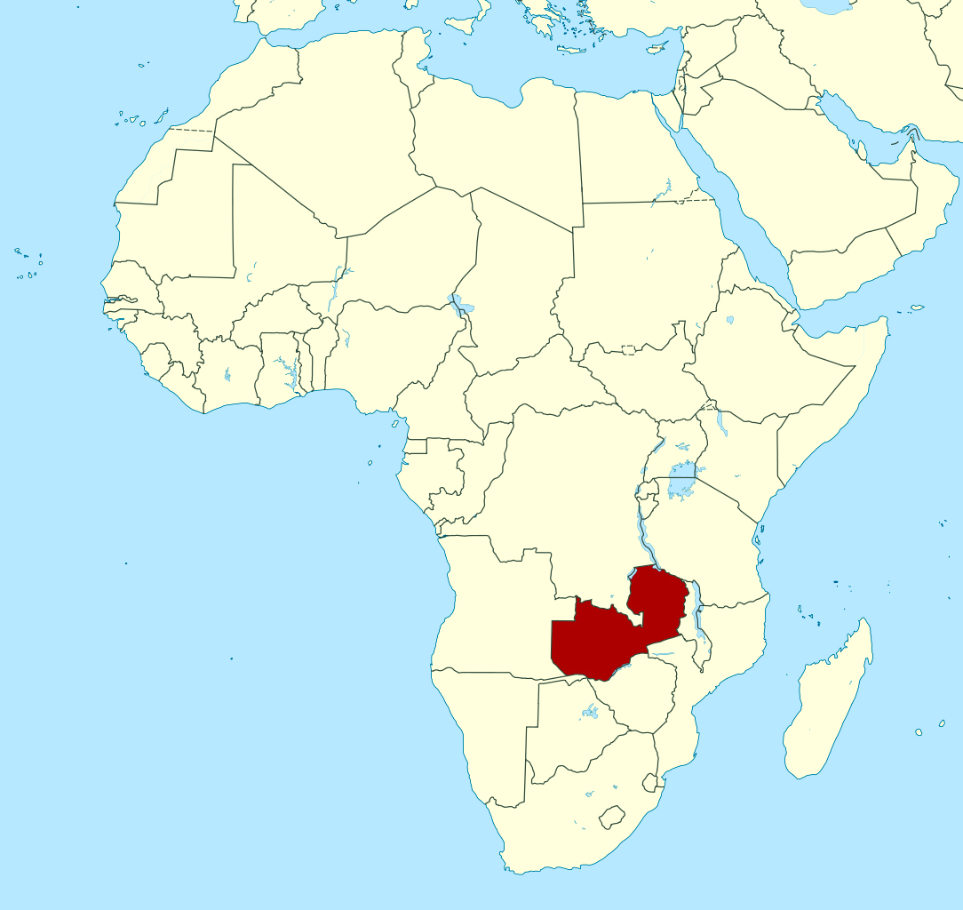 Detailed location map of Zambia in Africa | Zambia | Africa