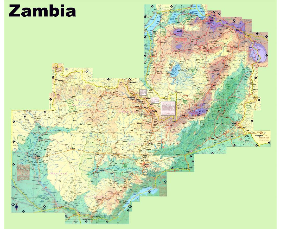 Maps of Zambia | Detailed map of Zambia in English | Tourist map ...
