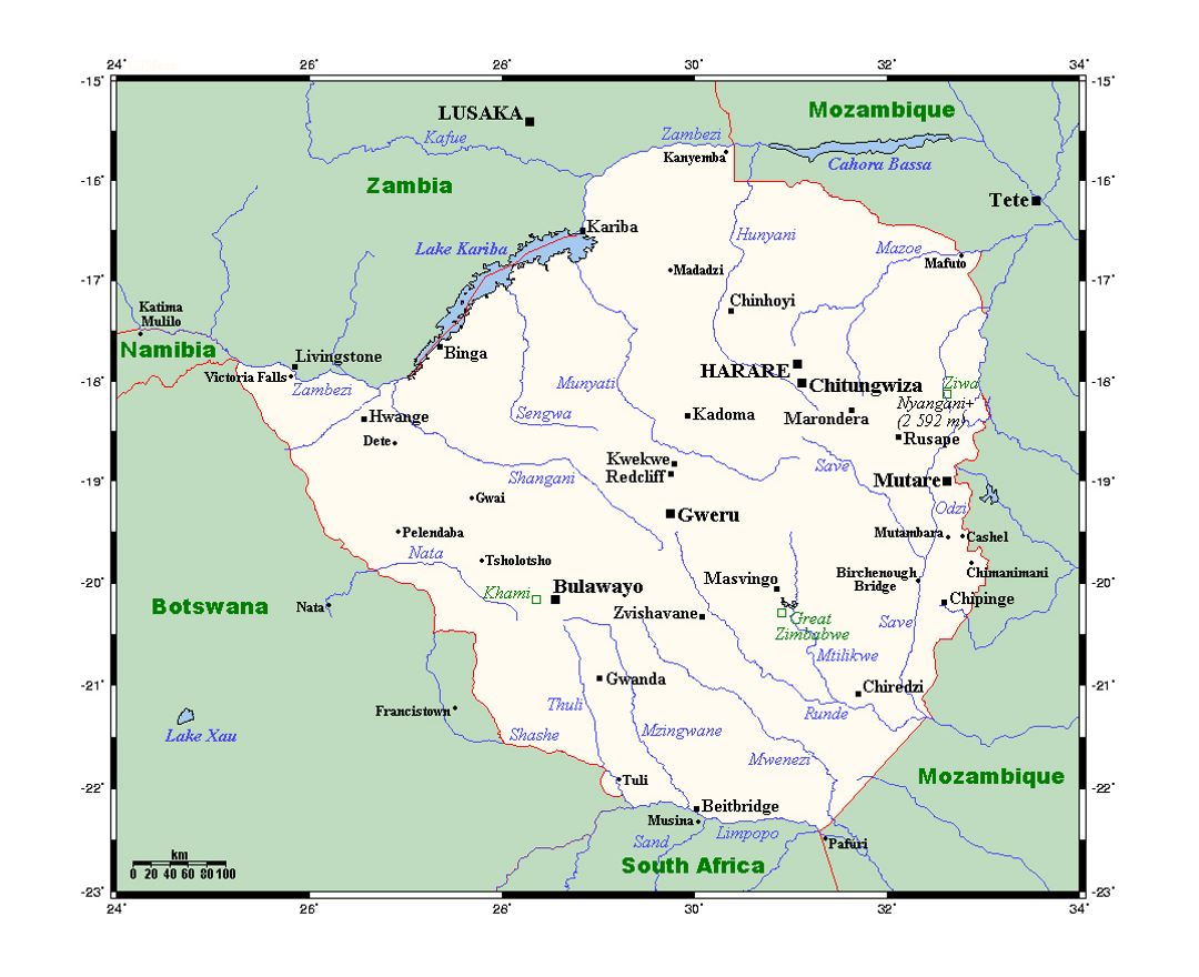 Map Of Africa Showing Zimbabwe.Maps Of Zimbabwe Collection Of Maps Of Zimbabwe Africa