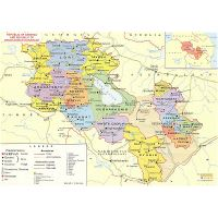 Detailed physical map of Armenia | Armenia | Asia | Mapsland ...