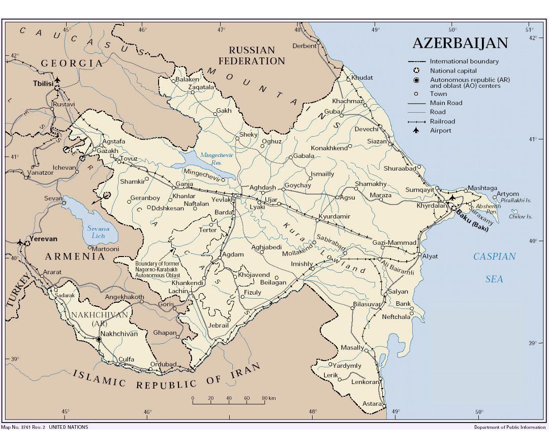 Maps Of Azerbaijan Collection Of Maps Of Azerbaijan Asia Mapsland Maps Of The World