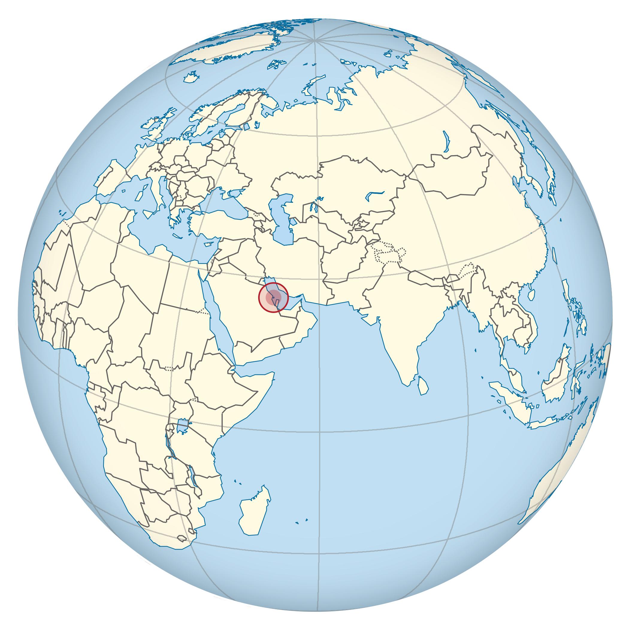 Large location map of Bahrain | Bahrain | Asia | Mapsland | Maps of ...