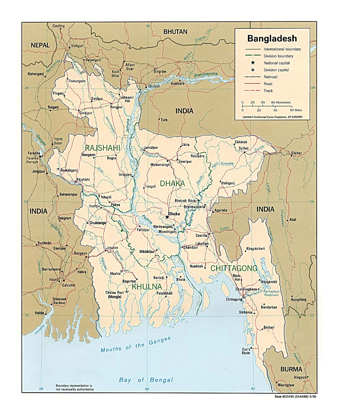Detailed Political And Administrative Map Of Bangladesh With