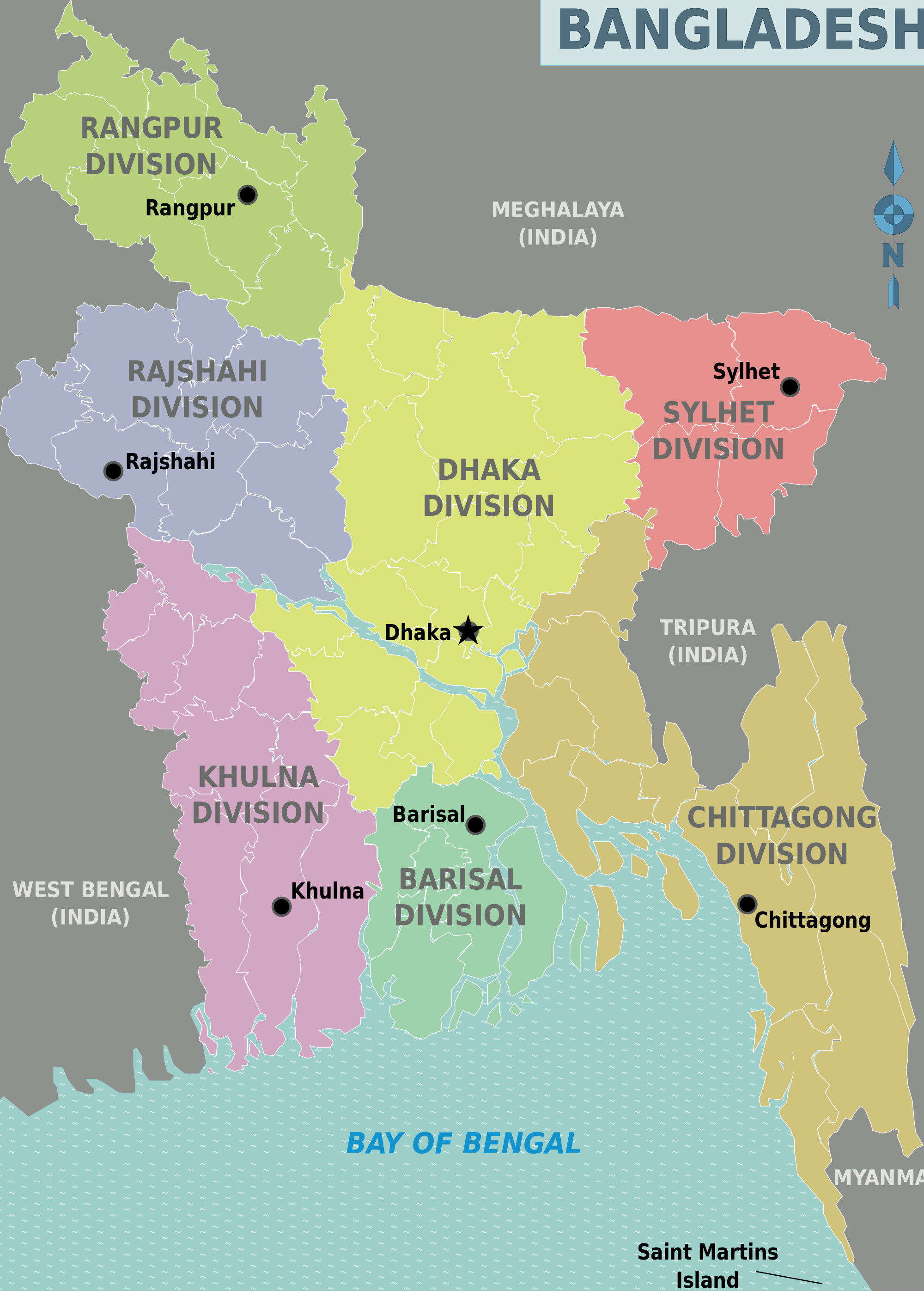Large detailed administrative divisions map of bangladesh large detailed administrative divisions map of bangladesh gumiabroncs Choice Image