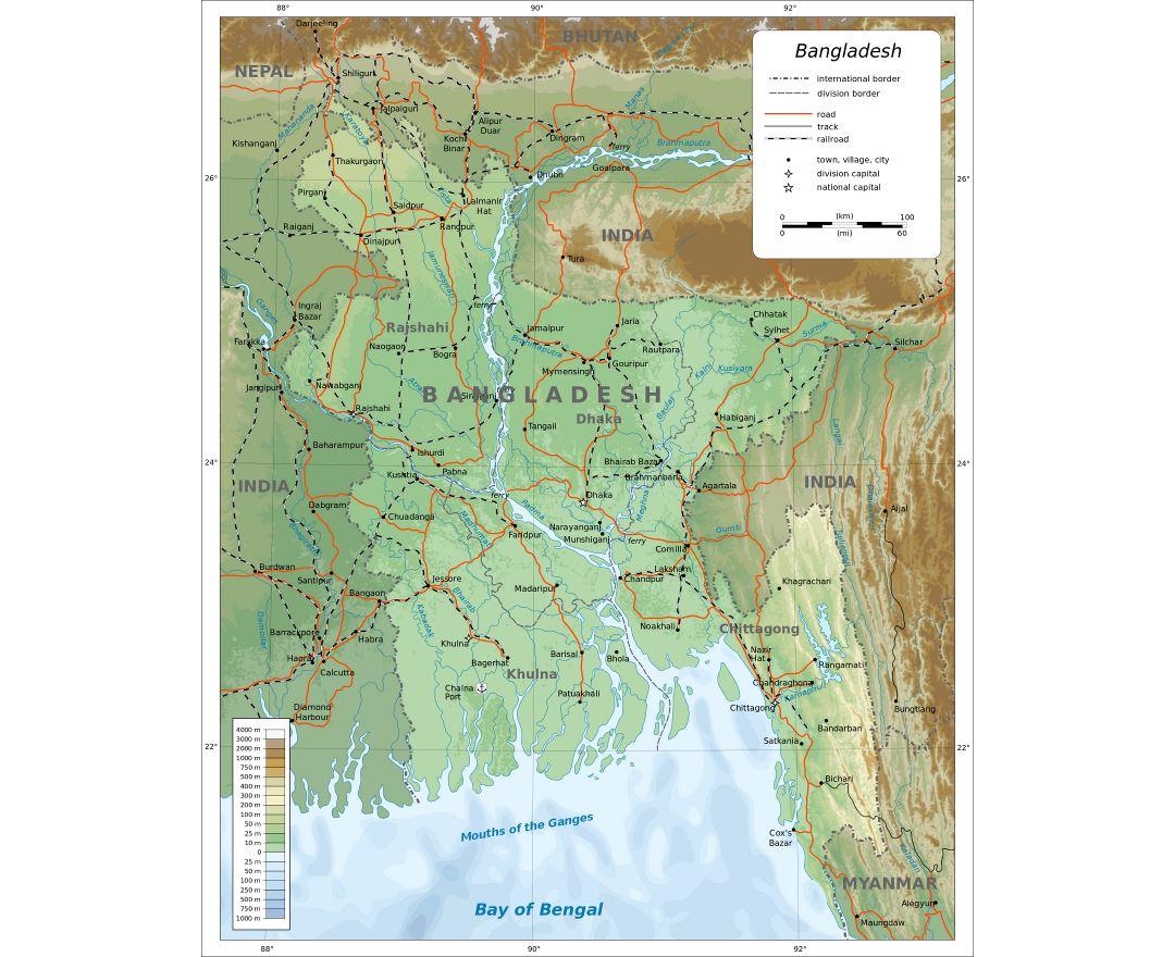Maps Of Bangladesh Collection Of Maps Of Bangladesh Asia