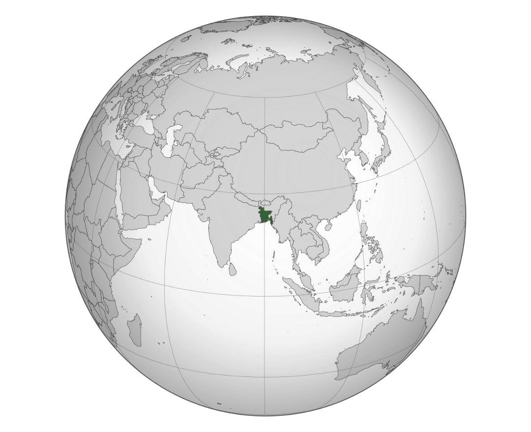 Maps of bangladesh detailed map of bangladesh in english tourist large location map of bangladesh gumiabroncs Images