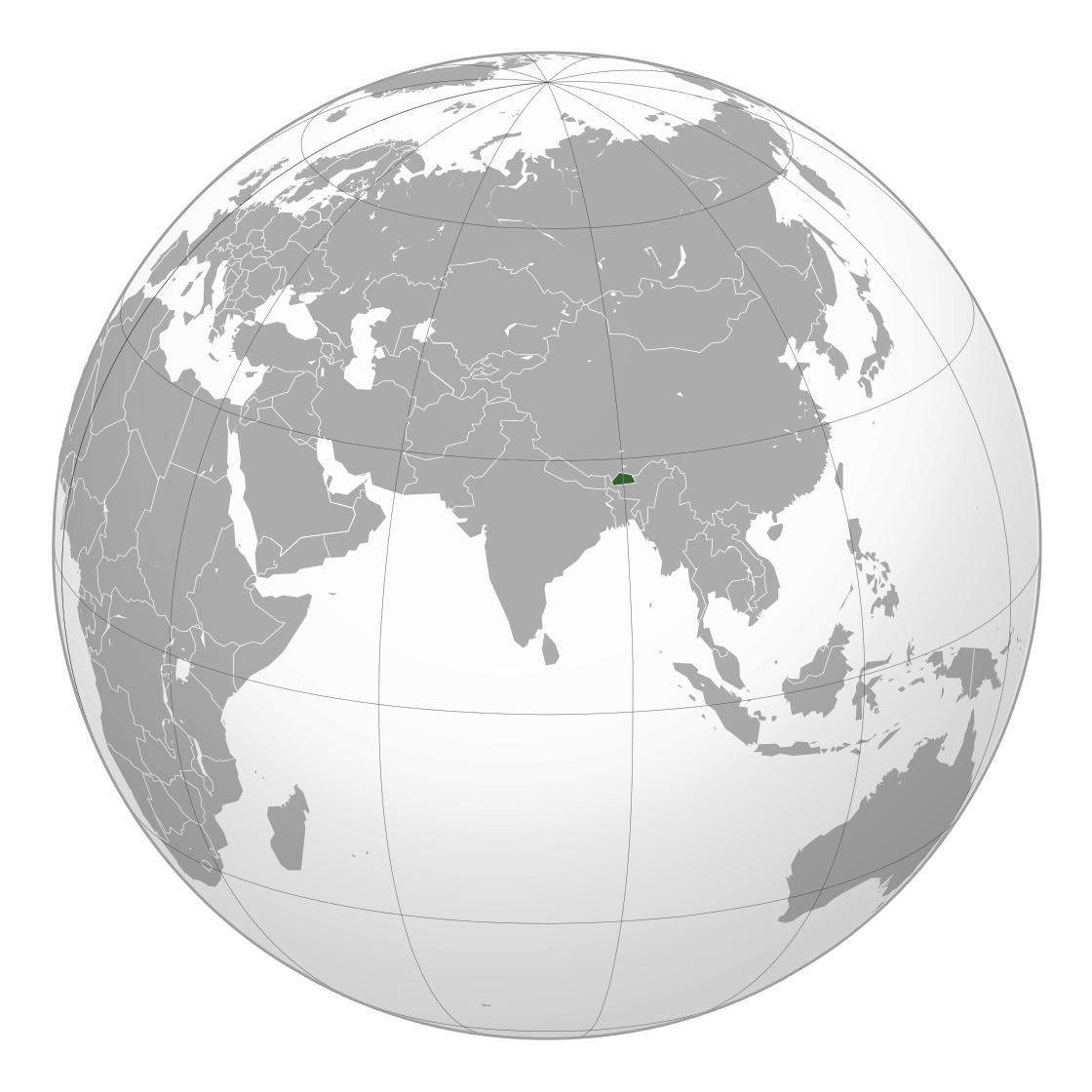 Large Location Map Of Bhutan Bhutan Asia Mapsland Maps Of