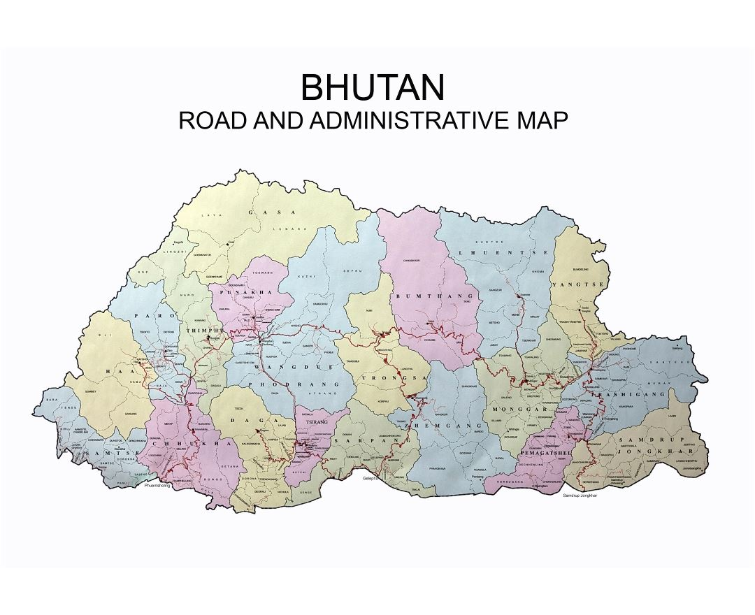 Maps of Bhutan | Detailed map of Bhutan in English | Tourist map ...