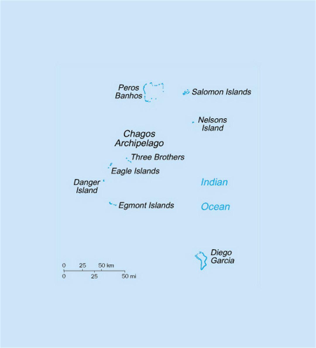 Small political map of British Indian Ocean Territory British