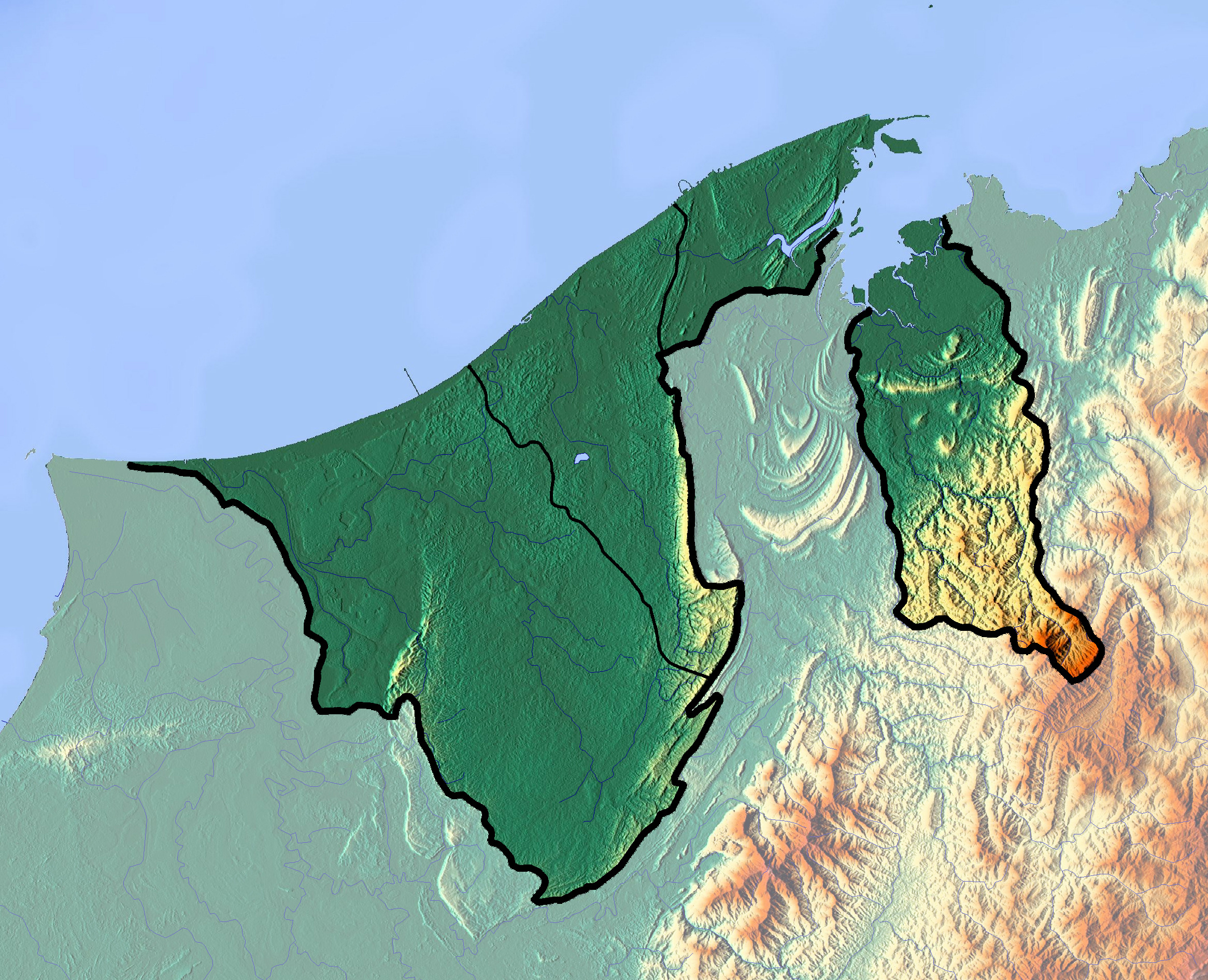 Detailed topographical map of Brunei Brunei Asia Mapsland
