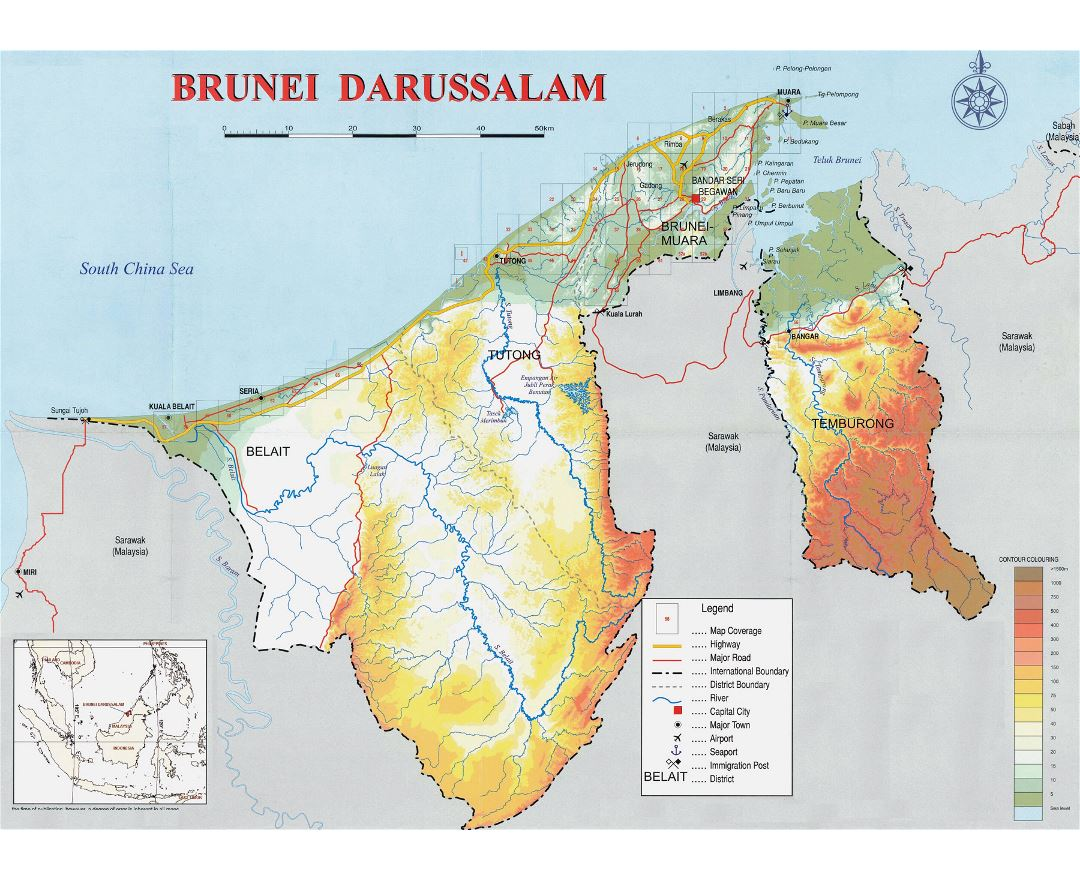 Maps Of Brunei Collection Of Maps Of Brunei Asia Mapsland