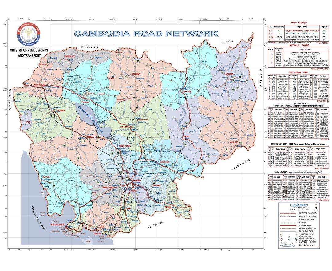 Maps of Cambodia | Collection of maps of Cambodia | Asia | Mapsland ...