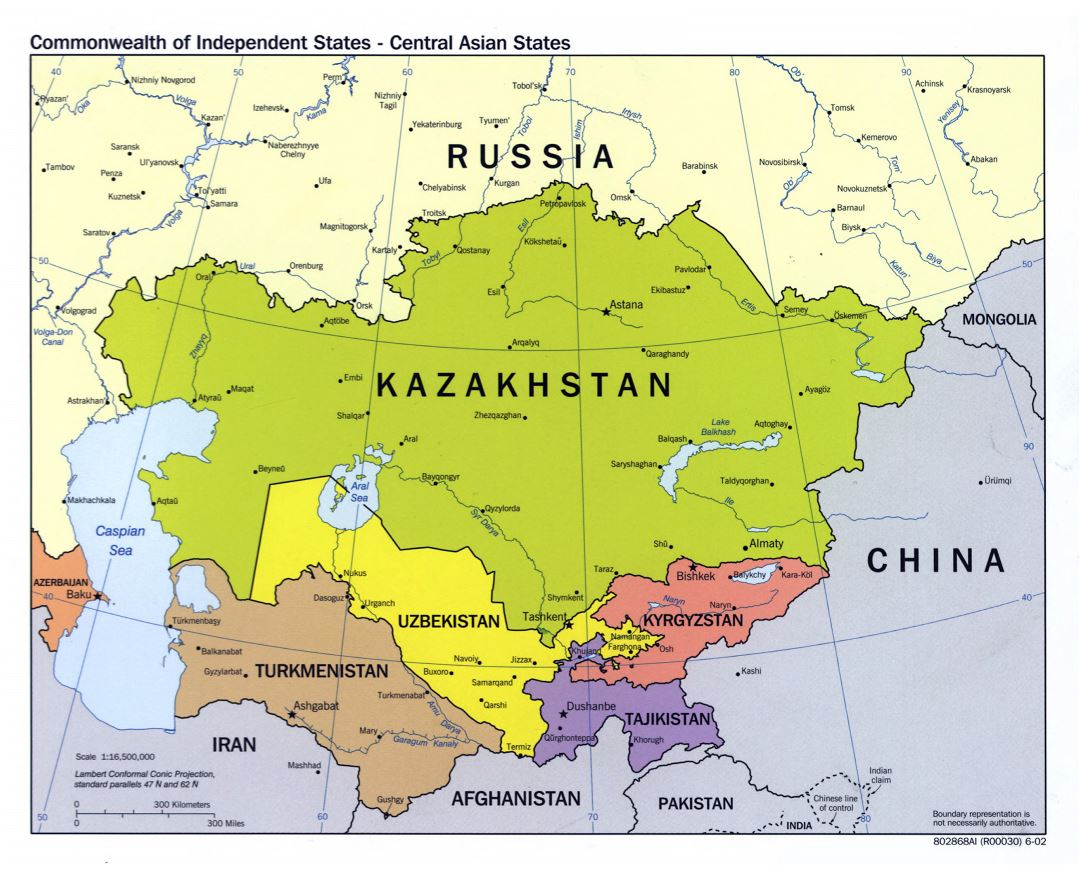 Maps Of Central Asia Central Asia Maps Collection Of Detailed - Central asia political map