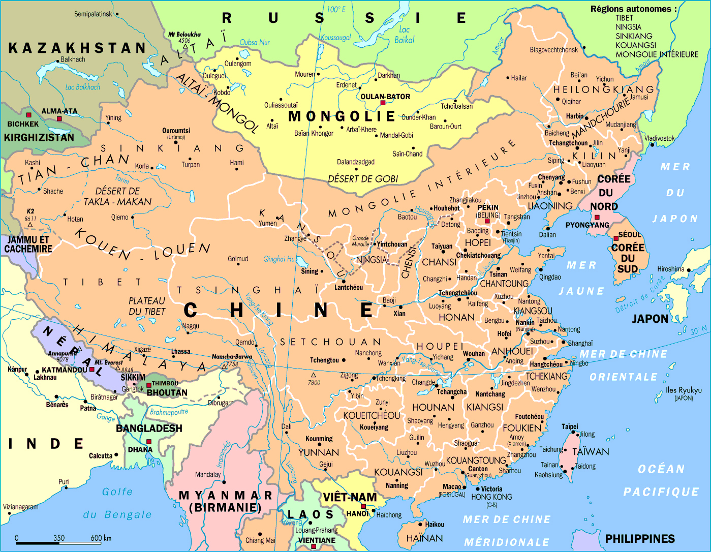 detailed political and administrative map of china  china  asia  - detailed political and administrative map of china