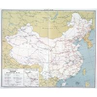 Map Of Asia 1960.Large Scale Railroads Map Of Communist China 1960 China Asia