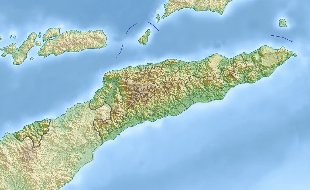 Large relief map of East Timor
